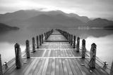Lake Pier Fotografie-Druck von  PhotoINC