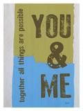 You & Me Stampa giclée di Lisa Weedn