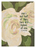 Ones Not Half Reproduction procédé giclée par Lisa Weedn