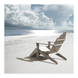 Solitary Beach Chair Poster by Noah Bay