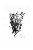 Inked Leopard Prints by James Grey