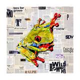Ralph the Frog Arte sobre metal por James Grey