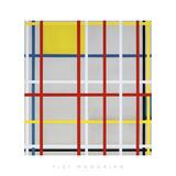 New York City, 3 Reproduction procédé giclée par Piet Mondrian