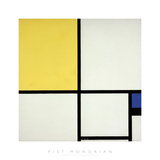 Composition with Blue and Yellow Impressão giclée por Piet Mondrian