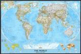 Politische Weltkarte Poster