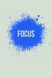 Focus Splatter 1 Targa di plastica di  NaxArt