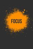 Focus Splatter 3 Targa di plastica di  NaxArt