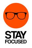 Stay Focused Circle 1 Targa di plastica di  NaxArt