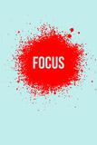 Focus Splatter 2 Targa di plastica di  NaxArt
