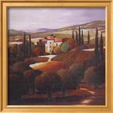 Villa in Tuscany Plakat af Max Hayslette