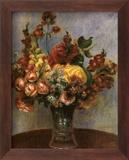 Flowers in a Vase Prints by Pierre-Auguste Renoir