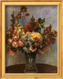 Flowers in a Vase Stampe di Pierre-Auguste Renoir