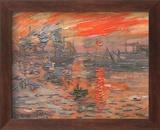 Impression, Sunrise Plakat af Claude Monet