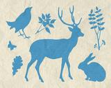 Woodland Creatures IV Poster di Clara Wells