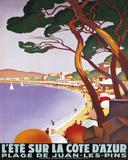 L'Ete Sur la Cote D'Azur Print by Roger Broders