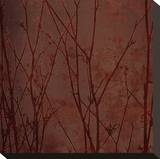Marsala Tree II Stretched Canvas Print by Mali Nave
