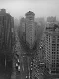 The Flat Iron Building, New York City Vinilo decorativo por Henri Silberman