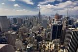 South View from Mid-Town Manhattan Empire State Building Veggoverføringsbilde av Henri Silberman