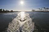 Sunset East Bay and Ferry Wake Vinilo decorativo por Henri Silberman