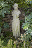 Garden Statue Female (English Garden Scene with Fig Leaves) Wall Decal by Henri Silberman