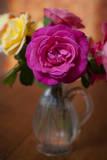 Pink Rose in a Vase Muursticker van Henri Silberman