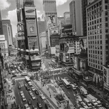 Times Square, NY Afternoon - Aerial View Of Midtown Manhattan Iconic Nyc Veggoverføringsbilde av Henri Silberman