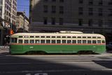 Streetcar on Market Stree, San Francisco, CA (F Line) Autocollant mural par Henri Silberman