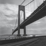 Verrazano Bridge, New York City Afernoon Autocollant mural par Henri Silberman