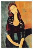 Jeanne Hébuterne seated Print by Amedeo Modigliani