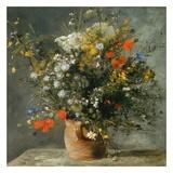 Fleurs dans un vase Plakater af Pierre-Auguste Renoir