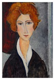 Woman portrait Poster di Amedeo Modigliani