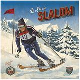 Ski slalom Posters by Bruno Pozzo