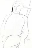 Portrait drawing 高画質プリント : アメディオ・モディリアーニ