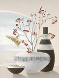Rowan Berries II Lámina por David Sedalia