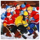 Sur le ruisseau gelé du 3e Rg Poster von Nicole Laporte