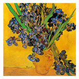 Vase avec iris (Détail) Poster av Vincent van Gogh