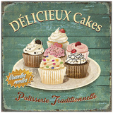 Délicieux cakes Prints by Bruno Pozzo