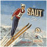 Ski saut Poster van Bruno Pozzo