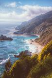 Misty Big Sur Coastline, California Fotografie-Druck von Vincent James