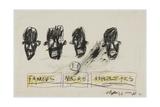 Famous Negro Athletes, 1981 Giclée-Druck von Jean-Michel Basquiat