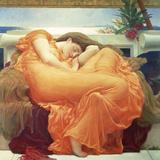 Slapende vrouw: Flaming June Gicléedruk van Lord Frederic Leighton