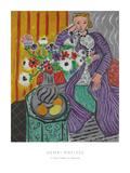 La Robe Violette et Anemones Posters par Henri Matisse