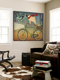 Pug on a Bike Kunst van Ryan Fowler
