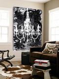 Chandelier Black and White Posters av Kent Youngstrom