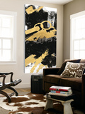 Gold Black Abstract Panel II Prints by Mike Schick