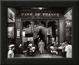 Café de France Poster by Willy Ronis