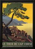 Tour Du Cap Corse Print by Roger Broders