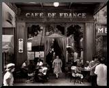 Café de France Mounted Print by Willy Ronis