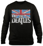 Crewneck Sweatshirt: The Beatles - Distressed British Flag Magliette