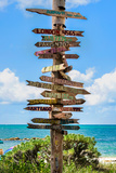 Destination Signs - Key West - Florida Stampa su tela di Philippe Hugonnard